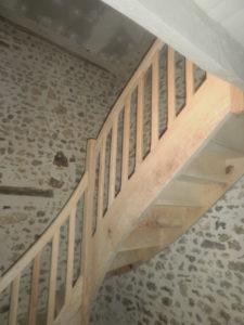Escalier balancé à l'ancienne